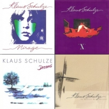 KLAUS SCHULZE - Mirage (1977), X (1978), Dreams (1986), Le Moulin De Daudet (1994)